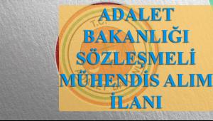 Adalet Bakanlığına 50 Adet Mühendis Alınacak !