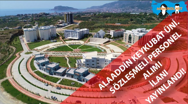 Alanya Alaaddin Keykubat Üniversitesi Sözleşmeli Personel Alımı İlanı Yayınladı!