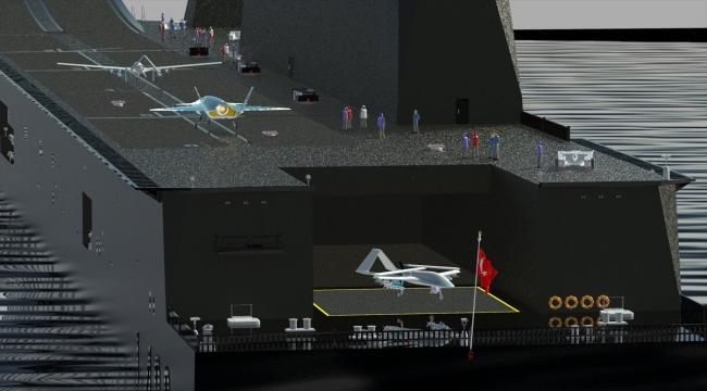 Bayraktar TB3 ile Muharip İnsansız Uçak Sistemi, TCG Anadolu'da birlikte görev yapacak