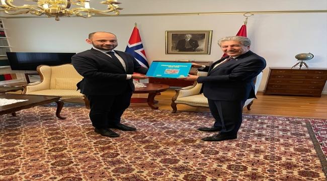 AA Genel Müdür Yardımcısı Özhan, Türkiye'nin Oslo Büyükelçisi Çorman'a nezaket ziyaretinde bulundu
